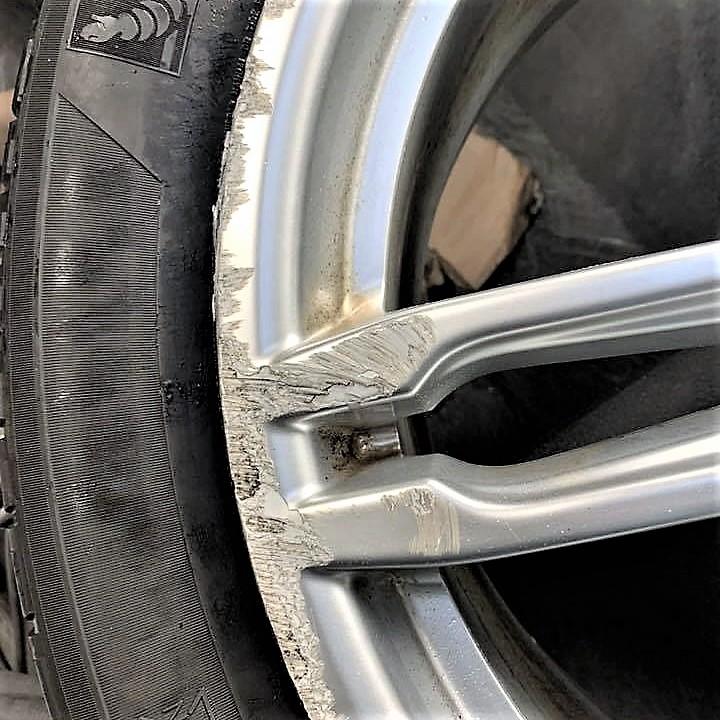 Wheel Curb Damage Before Photo